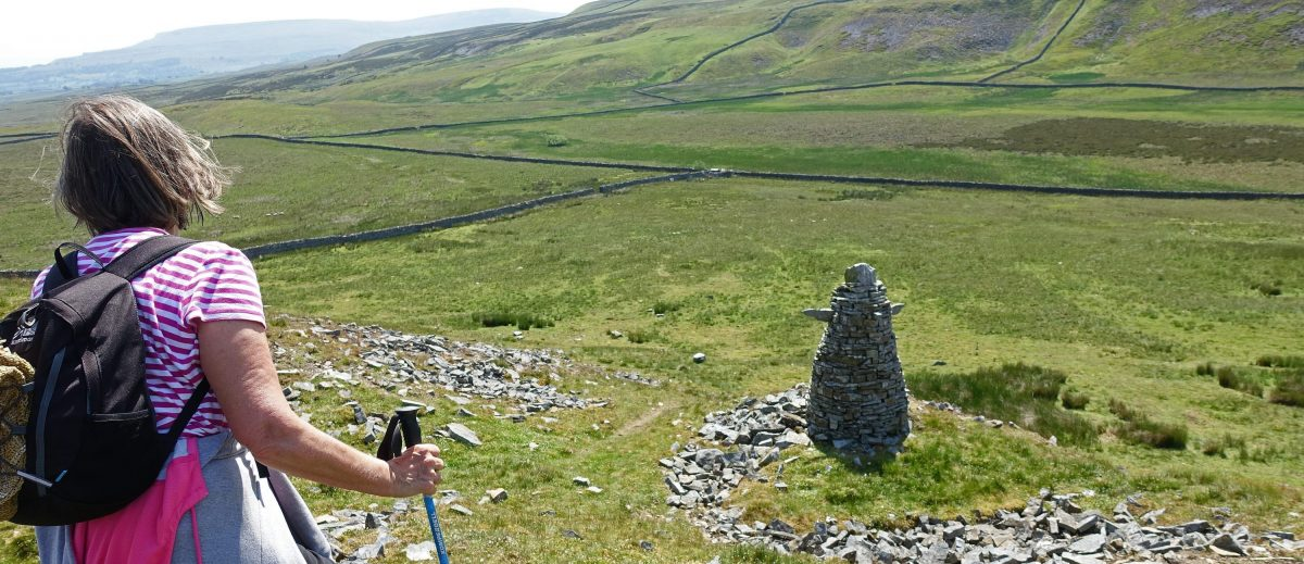 Walking up Addlebrough in Wensleydale in the Yorkshire Dales
