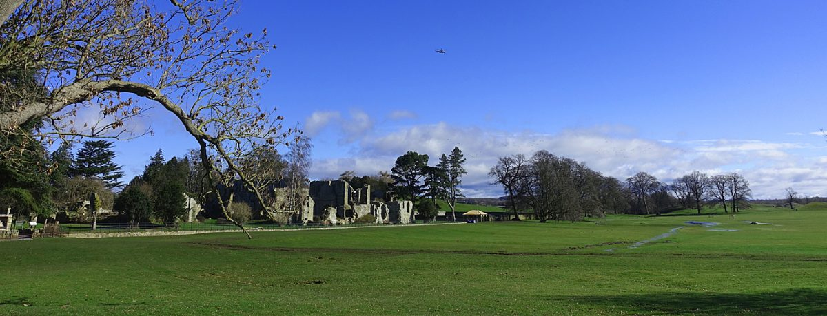 Jervaulx Abbey in between Masham and East Witton in the Yorkshire Dales